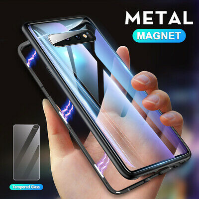360° Temper Glass Magnetic Adsorption Case Cover for Samsung Galaxy Note 10 Plus