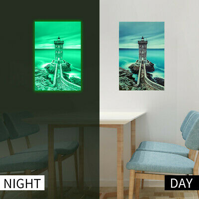 Tower Luminous Wall Sticker Glow In The Dark Home Decor Stickers Wall Decal_ZX
