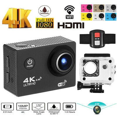 SJ9000 4K 1080P HD Waterproof 30M Action Camera WiFi Sports DVR Camcorder+Remote