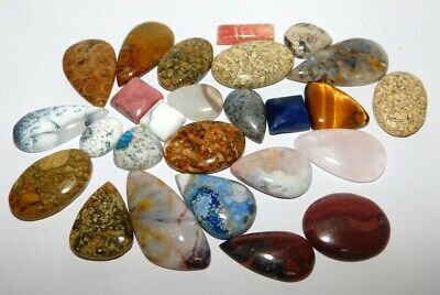 Mix Gemstone Genuine Natural Cabochon Loose Gemstone Wholesale Lot 443CTS. 32125