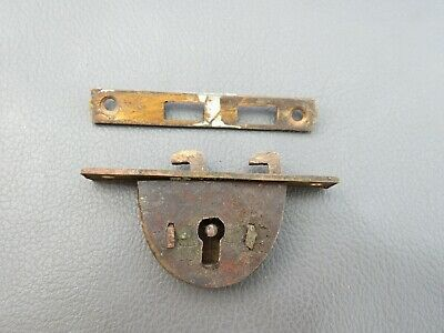 Antique or vintage writing slope box lock & keep spares parts