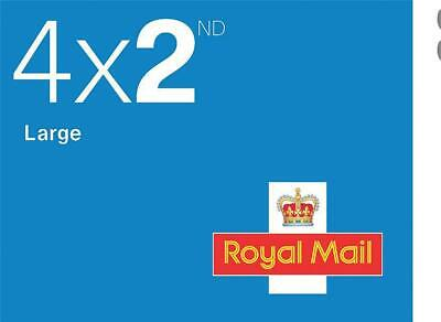 NO-NAME Royal Mail Second Class Large Letter Stamps [25 x Book of 4] - SCLLSTAMP
