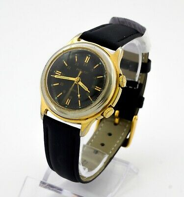 Poljot Alarm's & Vibrates men's gold plated Russian watch. Cal. 2612.1 18 jewels
