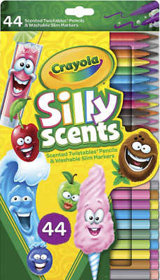 50 Pack Crayola Super Felt Tips Draw Thick & Thin Multicoloured Washable Markers
