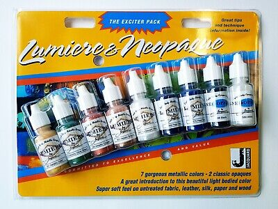 Jacquard Lumiere & Neopaque Exciter Pack (9 x 14mls) Metallics & Opaques