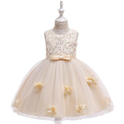 Children Kids Girls Flower Princess Pageant Dress Wedding Bridesmaid Party Dress