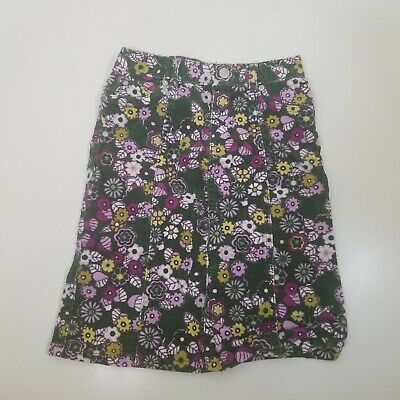 The Childrens Place Girls Skirt Green Floral Cord Modest Skirt Size 5