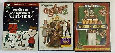 Christmas DVD Bundle Charlie Brown, Christmas Story 2, March Of Wooden Soldiers