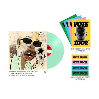 Tyler The Creator - Igor (Limited Edition Mint Color Vinyl LP) Pre-order Pack