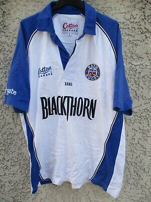 Maillot BATH RUGBY vintage blanc COTTON TRADERS shirt collection jersey L