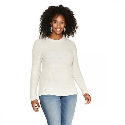NWT Isabel Maternity by Ingrid & Isabel Women's Maternity Shine Pullover Sweater