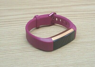 Fitbit Alta HR Fushsia/Stainless Steel Activity Tracker - Small