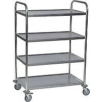 Fsmisc Stainless 4 Tier Service Trolley - 375426