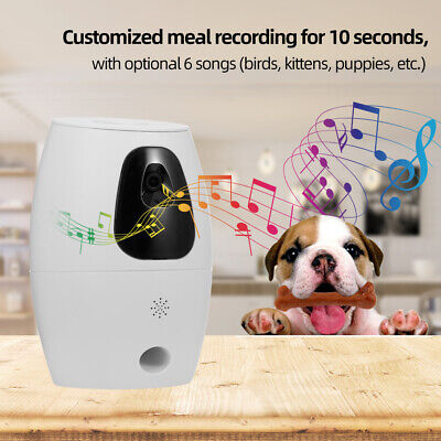 Automatic Pet Feeder Remote Control WiFi Intelligent Cat Dog Monitor New Y7P4