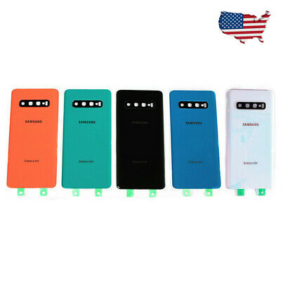 For Samsung Galaxy S10 S10+ Housing Glass Battery Back Case Cover + Camera Lens