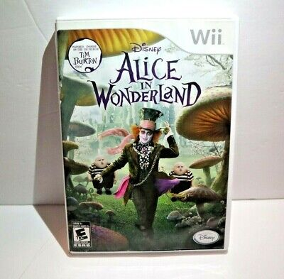 Alice In Wonderland Nintendo Wii Game Complete Manual Disney Tim Burton