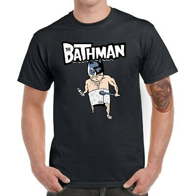 The Batman Bath Men T-Shirts Funny Graphic Shirt Cotton Short Sleeve Top Tees