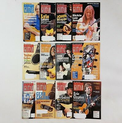 Acoustic Guitar Magazine 2004 Entire Year 12 Issues Complete