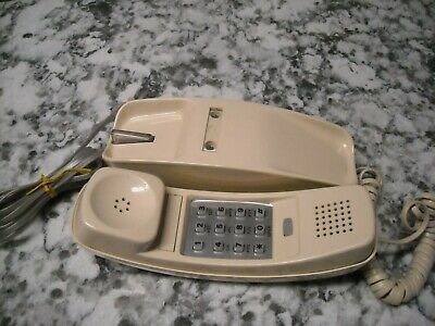 AT&T Telephone Phone Cream Color Push Button Vintage