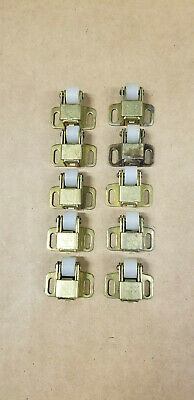 Lot (10) VTG Cabinet Door Roller Latch Catch National Lock Co NL White Roller