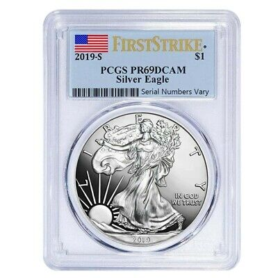 Sale Price - 2019-S 1 oz Proof Silver American Eagle PCGS PF 69 First Strike