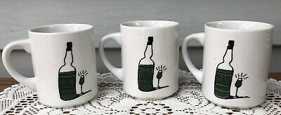 """Set of 3 Vintage """"CHARTREUSE: A MYSTERY"""" Coffee Mugs/Cups ~ Collectible ~ RARE!"""