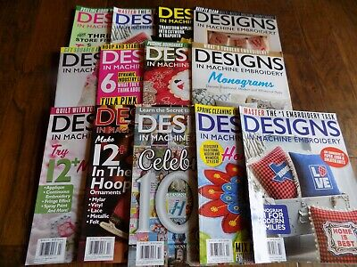 LOT OF MACHINE Embroidery Magazines - 5 Issues - $10 00