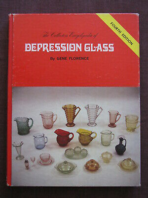 The Collectors Encyclopedia of DEPRESSION GLASS Signed by Gene Florence 1980 HC