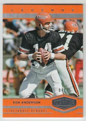 2017 Panini Plates and Patches #141 Ken Anderson RET /75