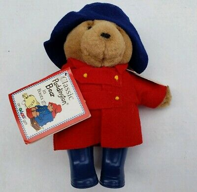 """Vintage Classic Paddington Bear in Boots 7"""" Plush * New w/ Tags * Free Shipping"""
