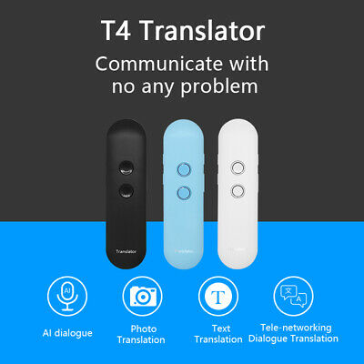 Portable Translator Two-Way Real Multiple Languages Translation With Wooask APP