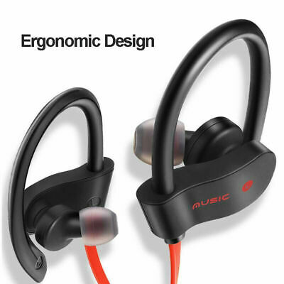 Sweatproof Bluetooth Headset Wireless Sport Stereo Headphones Earphone Earbuds