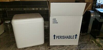 Omaha Box 11 5/8 10 11 Insulated Foam Container Shipping Box Mailer (SEVERAL)