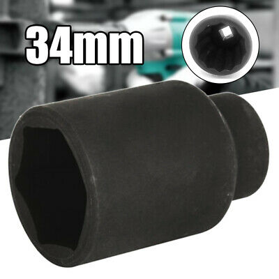 """1/2"""" Drive 34mm Metric 12 Point Deep Impact Socket For Bi Hex Heavy Air Wrench"""