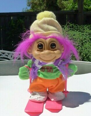 "Troll Doll 8"" Large Russ  Born To Ski"