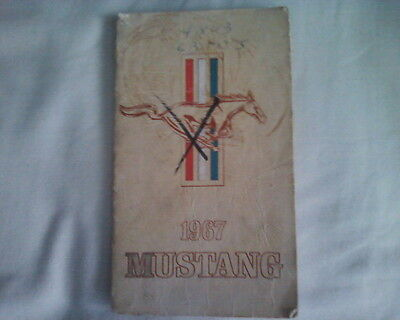 antique vintage 1967 Ford Mustang original Owner's Manual Guide automobilia RARE