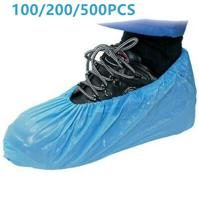 50-500 Disposable BLUE PVC Over Shoes/Shoe Boot Covers Carpet Cleaning Protector