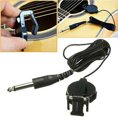 Piezo Clip On Microphone Pickup for Acoustic Guitar Violin Mandolin Ukulele SFO