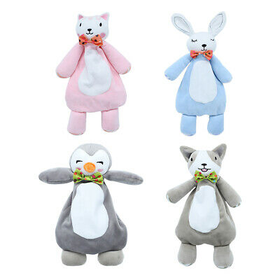 Baby Cartoon Animal Security Blanket Hand Puppet for Toddler Comforter Toy