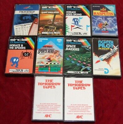 10 tapes of software for the Sinclair ZX Spectrum on cassette