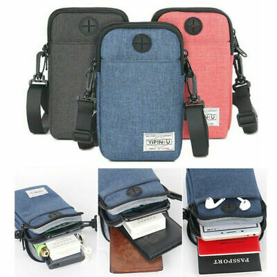 Passport ID Card Holder Bag Waterproof Money Phone Wallet Travel Shoulder Bag