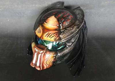 JK88 Predator art airbrush on dot helmet motorcycle handmade (Real, size S-XXL)