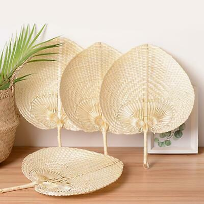 Heart Shaped Woven Bamboo Fan DIY Summer Handmade Cooling Fans Vintage Decor