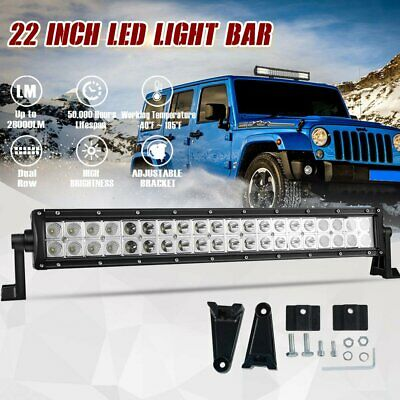 22inch CREE LED Work Light Bar Flood Spot Combo Offroad Driving Lamp SUV ATV 4x4