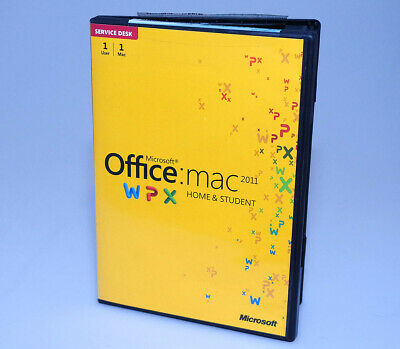 MS MICROSOFT OFFICE MAC 2011 Home and Student DVD 1 User 1