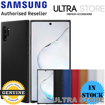 GENUINE Original Samsung Galaxy Note 10 / 10+ Plus 5G Leather Cover Back Case