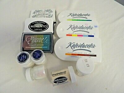 Inkpads, embossing powder and diamond sparkles glitter (HD)