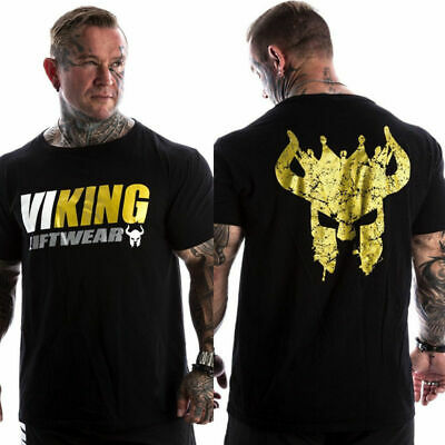 Spartan Helmet Viking Mens T Shirt Gym Training Workout Mma Fitness Top Liftwear