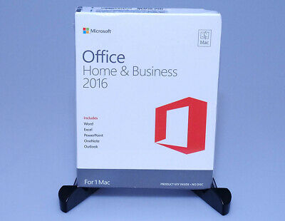 Microsoft Office Home and Business 2016 GENUINE sealed NEW W6F-00501 1 Mac OS X