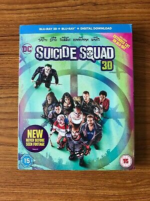 SUICIDE SQUAD 3D [Blu-ray 3D + Blu-ray + Digital Download] New & Sealed